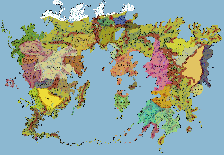 Dsa Karte Bornland.Dsa Karte Aventurien Kleve Landkarte